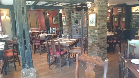 The Cricketers Downside Cobham interior dining area