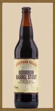A bomber bottle of Bourbon Barrel Stout