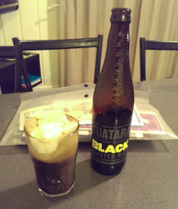 Tuatara Black ice cream float