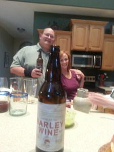 Good friends (Pat and Patty) and good beer, always makes the Beer professor happy.